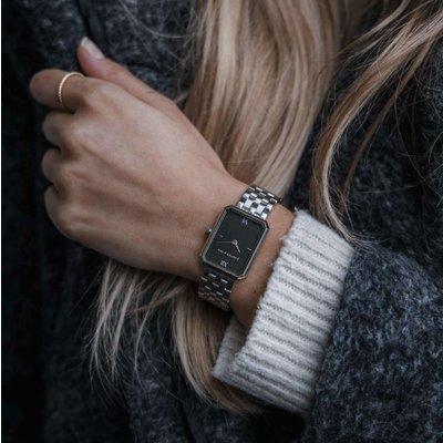 KAPTEN & SON KAPTEN & SON Horloge | GRACE ZILVER | BLACK STEEL