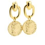 LILLY LILLY Oorbellen | Big Link Coin Marianne | 18 Karaats