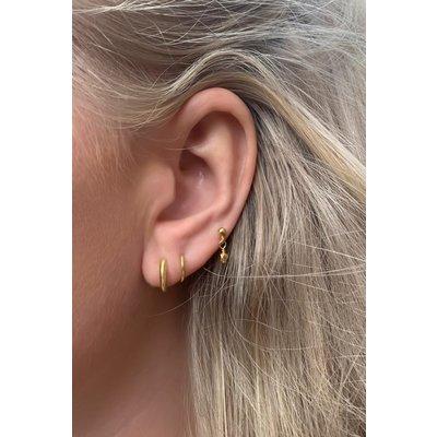 MIAB Jewels MIAB Oorbellen | Rose Goud | Twister | 14k Goud Vermeil
