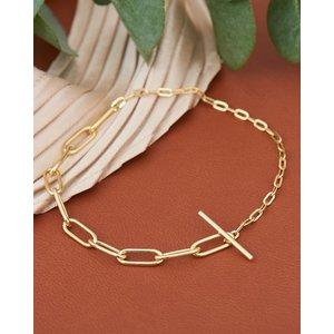 ANIA HAIE ANIA HAIE Bracelet | MIXED LINKS T-BAR | VERGULD