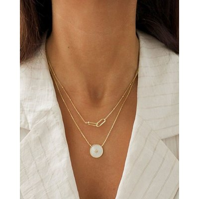 ANIA HAIE ANIA HAIE Necklace | BEADED CHANGE LINK | GOLD | N021-01G