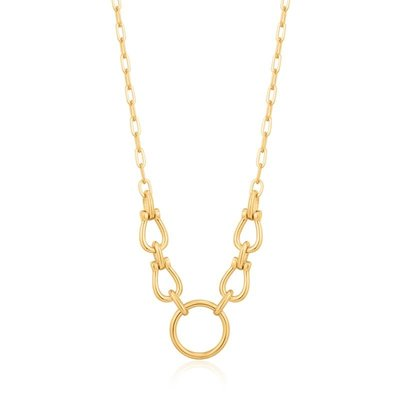 ANIA HAIE ANIA HAIE Necklace | HORSESHOE LINK | VERGULD | N021-04G