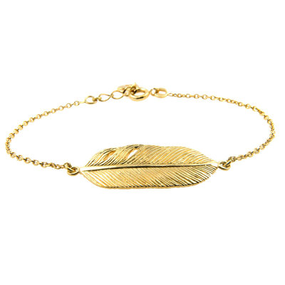 LILLY LILLY Armband | Goldies | Big Feather | 14 Karaats