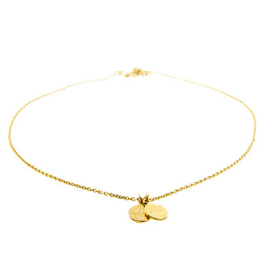LILLY LILLY Ketting   Double Mini Franc   Verguld