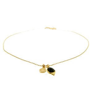 LILLY LILLY Ketting | Mini Lapi Suncharm | Gold | Onyx