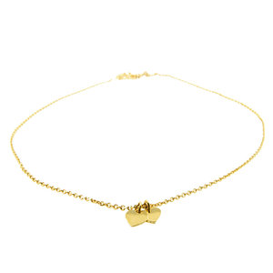 LILLY LILLY Ketting | Double Mini Hearts | Verguld