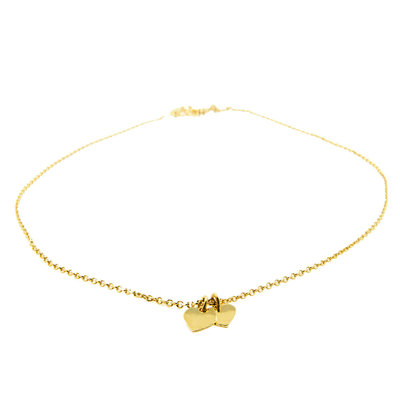 LILLY LILLY Ketting   Double Mini Hearts   Verguld