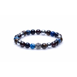 KARMA Jewelry KARMA Armband | Fear of the Dark silver round logo bead