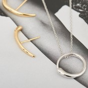ANIA HAIE ANIA HAIE Necklace | LUXE CIRCLE | ZILVER | N024-01H