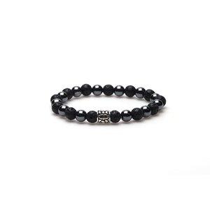 KARMA Jewelry KARMA Armband | Black Panther silver logo bead