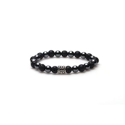 KARMA Jewelry KARMA Armband | Black Panther silver logo bead | 86458