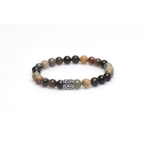 KARMA Jewelry KARMA Armband | Bromine Silver Bead