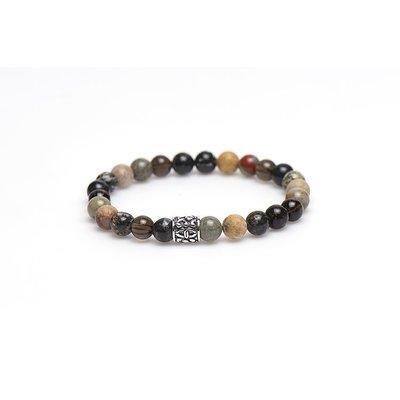 KARMA Jewelry KARMA Armband | Bromine Silver Bead | 86748
