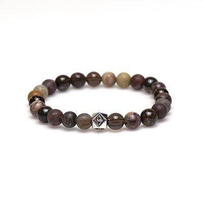 KARMA Jewelry KARMA Armband | Pullover Silver Logo Bead | 86859