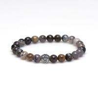 KARMA Jewelry KARMA Armband | Occasion Silver Logo Bead