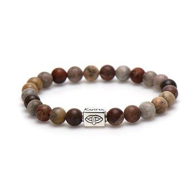KARMA Jewelry KARMA Armband | Woodprint Silver Logo Tube | 86885