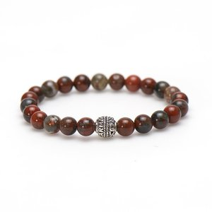 KARMA Jewelry KARMA Armband | Red Dragon Logo Bead