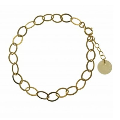 BLINCKSTAR BLINCKSTAR Armband | Goldfilled | Gladde Schakel | SS20 | 2001A70