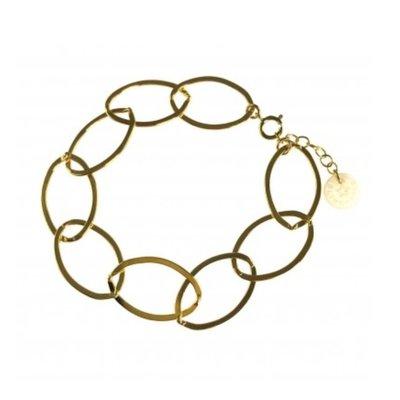 BLINCKSTAR BLINCKSTAR Armband | Goldfilled | XL Gladde Schakel | 2002A45