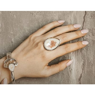 UNOde50 UNOde50 Ring | MRS BEGUM | Zilver | INDIA | ANI0630BLNMTL