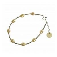 BLINCKSTAR BLINCKSTAR Armband | Zilver | Parel