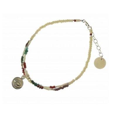 BLINCKSTAR BLINCKSTAR Armband | Zilver | Dubbel Armbandje met oog | 2001A52