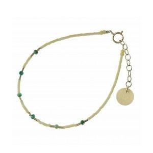 BLINCKSTAR BLINCKSTAR Armband | Zilver | Wit | Turquoise