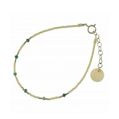 BLINCKSTAR BLINCKSTAR Armband | Zilver | Wit | Turquoise | 2001A48