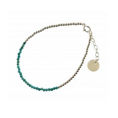 BLINCKSTAR BLINCKSTAR Armband   Zilver   Turquoise   2001A46