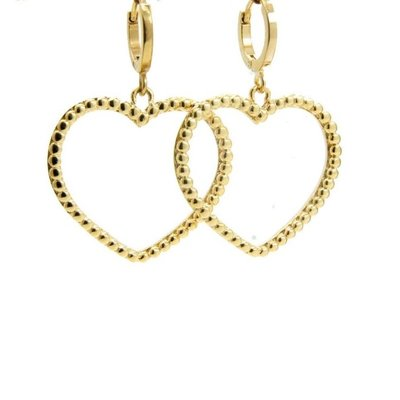 LILLY LILLY Oorbellen |  Big Heart Balls | Gold | 18 Karaats