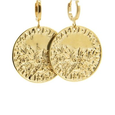 LILLY LILLY Oorbellen |  Big Coin Egaliter France | Gold | 18 Karaats