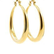 LILLY LILLY Oorbellen | Creole Big Round L  | Gold | 18 Karaats