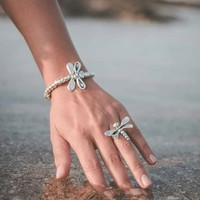 UNOde50 UNOde50 Armband | LITTLE DRAGON-FLY | ZILVER | LIBELLE