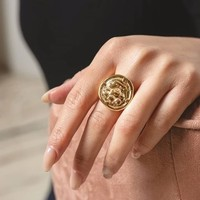 UNOde50 UNOde50 Ring | NAVY | Goud | SS19