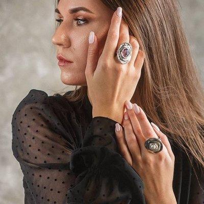 UNOde50 UNOde50 Ring | TEOTL | Zilver | Kristal | Dark Pink | SS19 | ANI0588ROJMTL