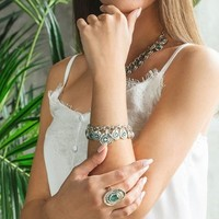 UNOde50 UNOde50 Armband | TIZOC | ZILVER | ROYAL GREEN