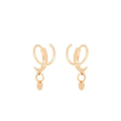 MIAB Jewels MIAB Oorbellen | Goud | Twister Swing  | 14k Goud Vermeil