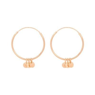 MIAB Jewels MIAB Oorbellen | Rose Goud | Big Roundy Rounds | 14k Rose Goud Vermeil