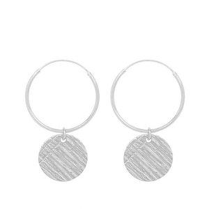 MIAB Jewels MIAB Oorbellen | Zilver | Big Round Scratched