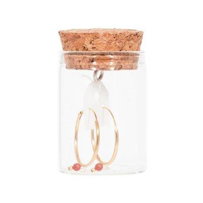 MIAB Jewels MIAB Oorbellen   Goud   Big Rounds Pink   14k Goud Vermeil