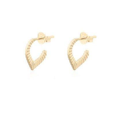 MIAB Jewels MIAB Oorbellen | Goldfilled | Pointy Stripes