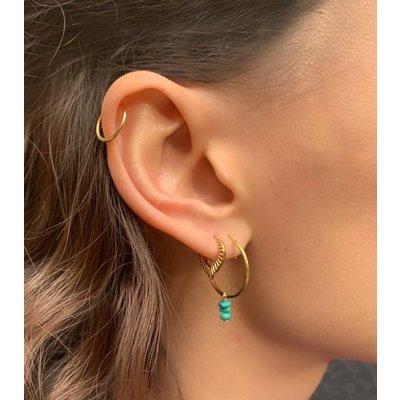 MIAB Jewels MIAB Oorbellen | Rose Goud | Pointy Stripes | 14k Goud Vermeil