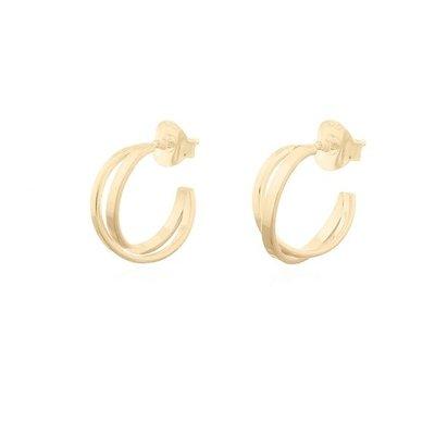 MIAB Jewels MIAB Oorbellen | Goud | Crossed Hoops  | 14k Goud Vermeil
