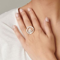 UNOde50 UNOde50 Ring | MAKE A WISH | Zilver Rozenkwarts | MY LUCK