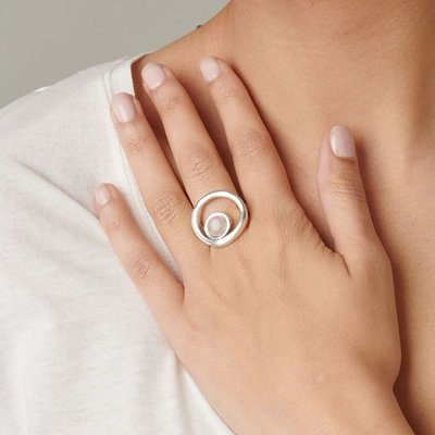 UNOde50 UNOde50 Ring | MAKE A WISH | Zilver Rozenkwarts| MY LUCK | ANI0604RSMTL