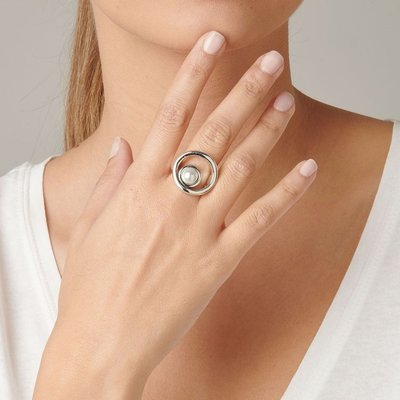 UNOde50 UNOde50 Ring | MAKE A WISH | Zilver Parel | MY LUCK | ANI0604BPLMTL
