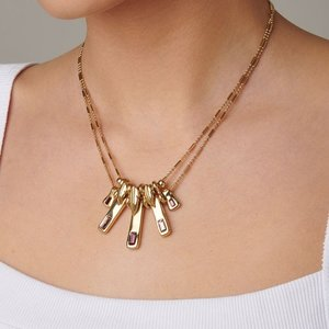 UNOde50 UNOde50  Ketting | A TICKLE WITH A FEATHER | VERGULD | JAPAN SS20