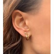MIAB Jewels MIAB Oorbellen | Rose Goud | Crossed Hoops | 14k Goud Vermeil