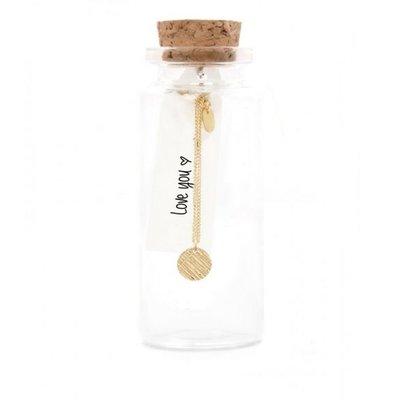 MIAB Jewels MIAB Ketting | Goud | Scratched Round