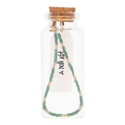 MIAB Jewels MIAB Armband | Goud | Mini Turquoise | 14k Gold Filled